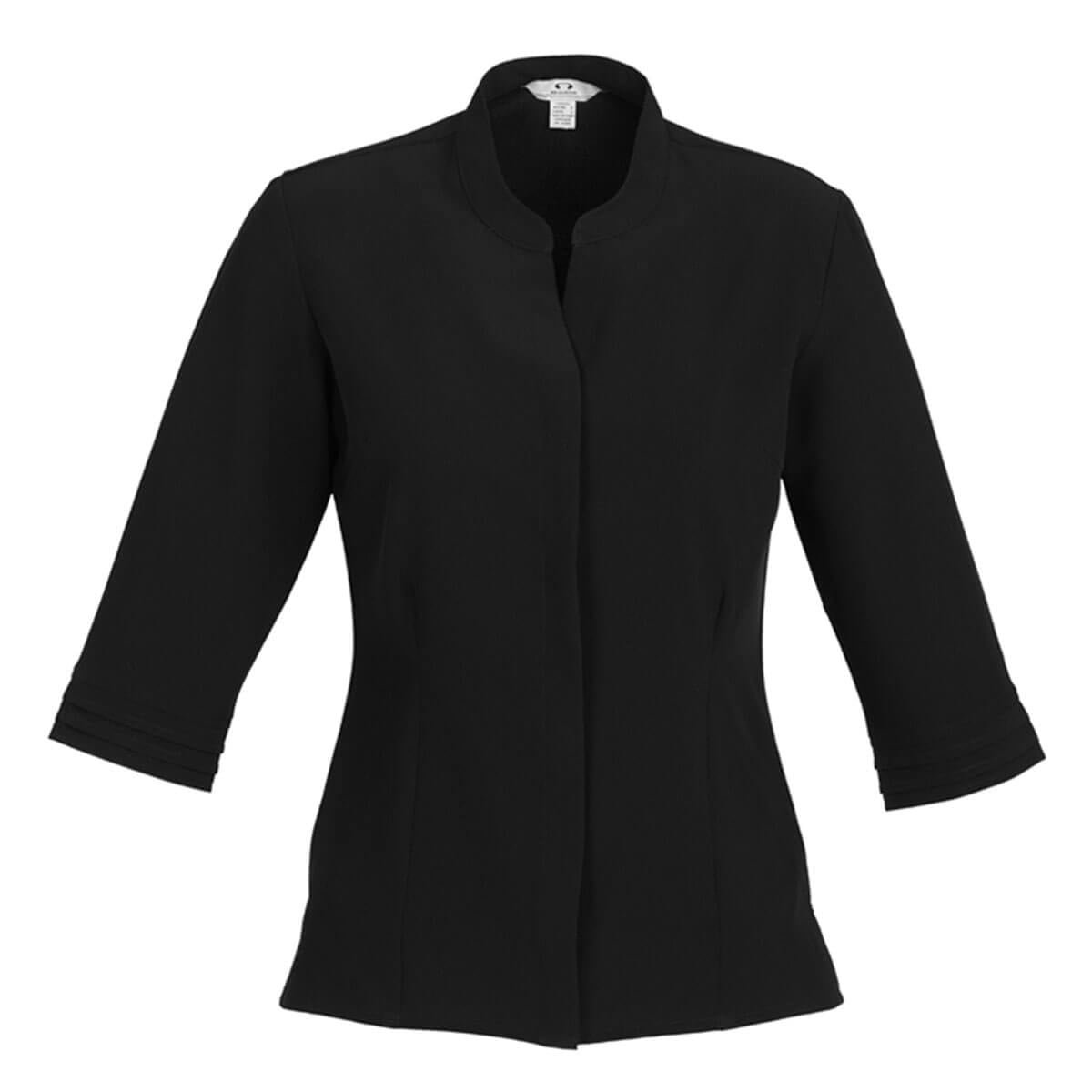 Ladies Quay 3/4 Sleeve Shirt-Black