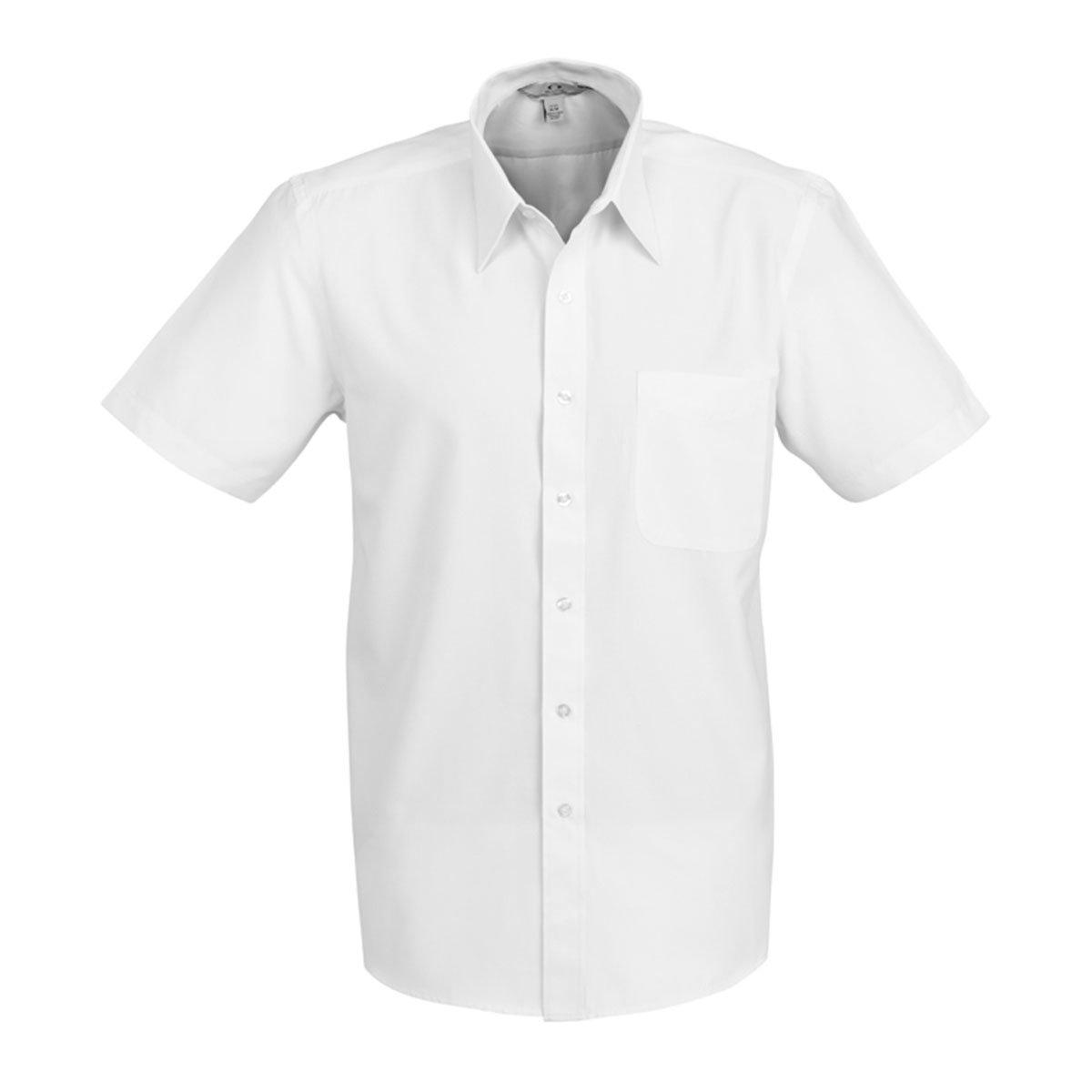 Mens Ambassador Short Sleeve Shirt-White