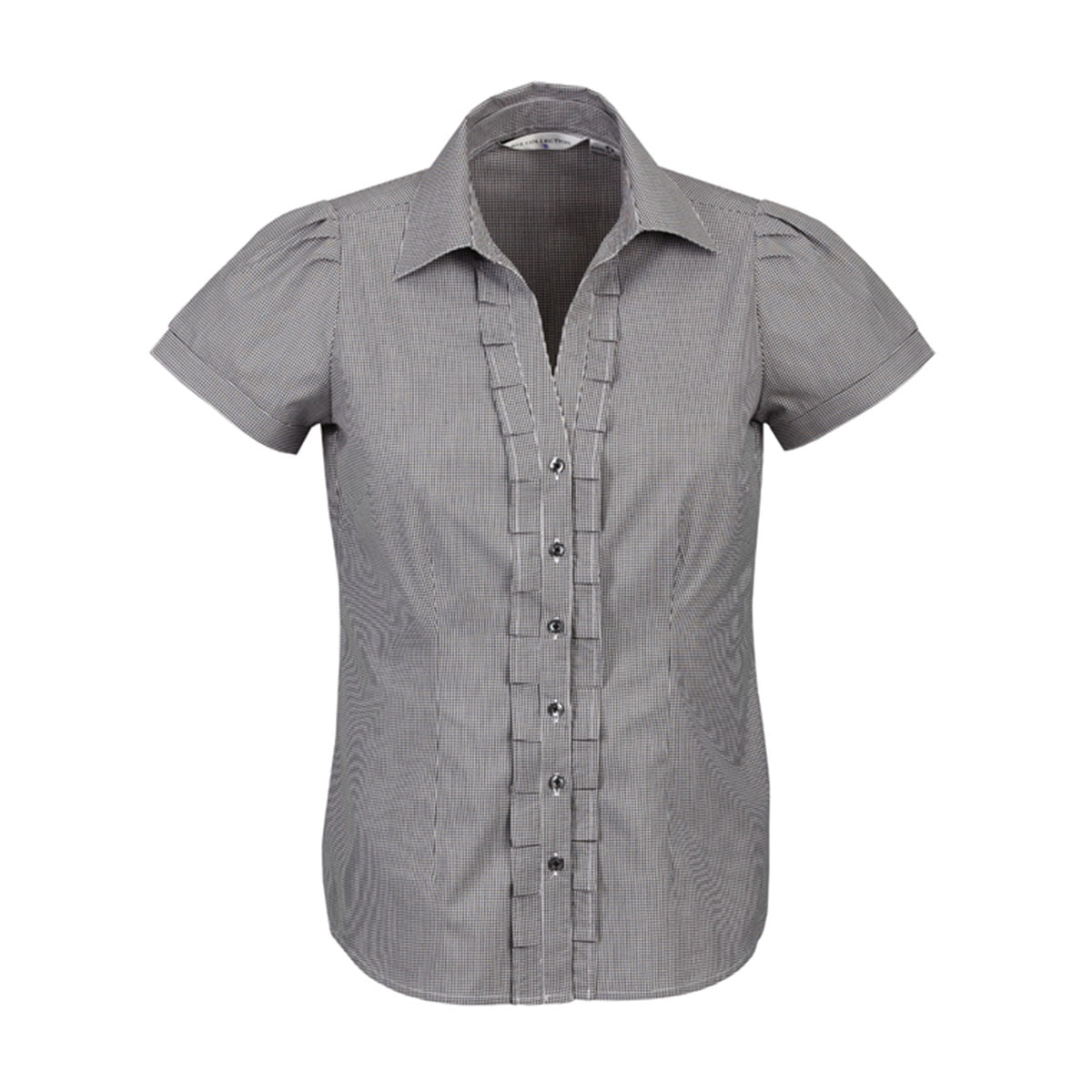 Ladies Edge Short Sleeve Shirt-Black