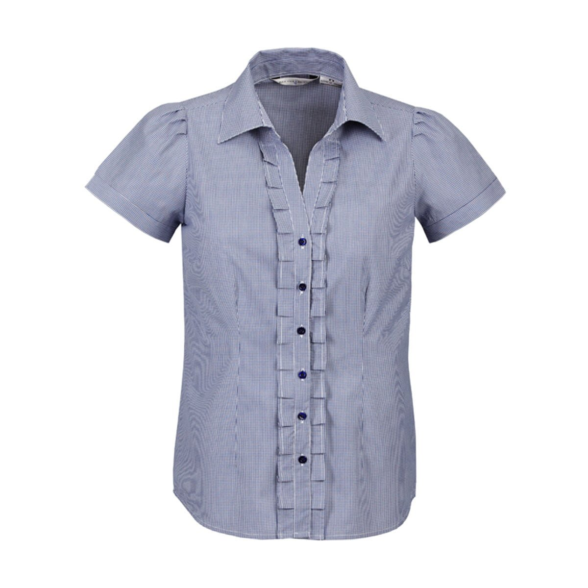 Ladies Edge Short Sleeve Shirt-Blue