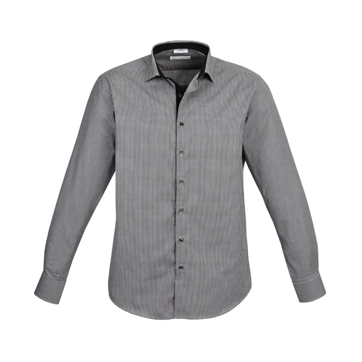 Mens Edge Long Sleeve Shirt-Black