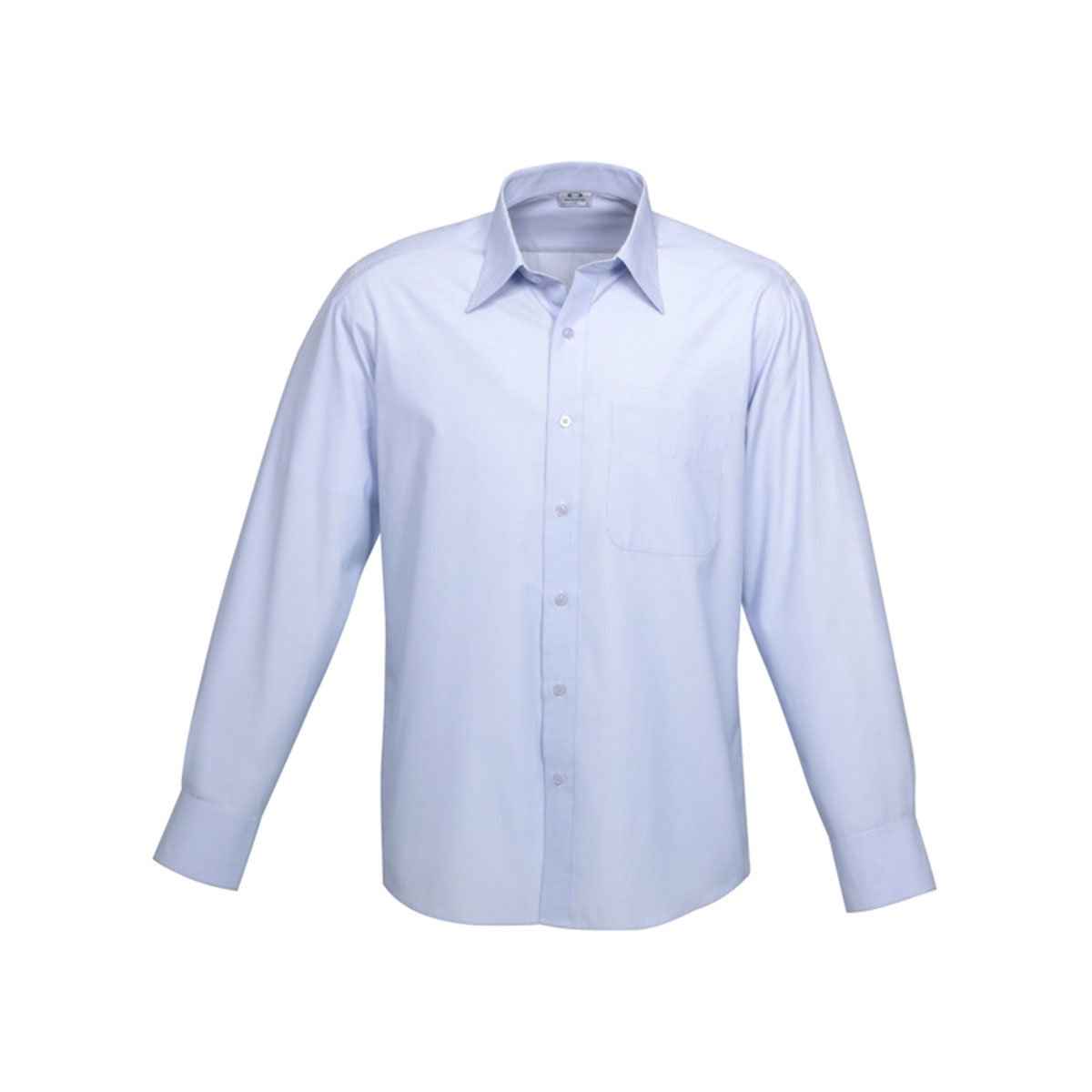 Mens Ambassador Long Sleeve Shirt-Blue