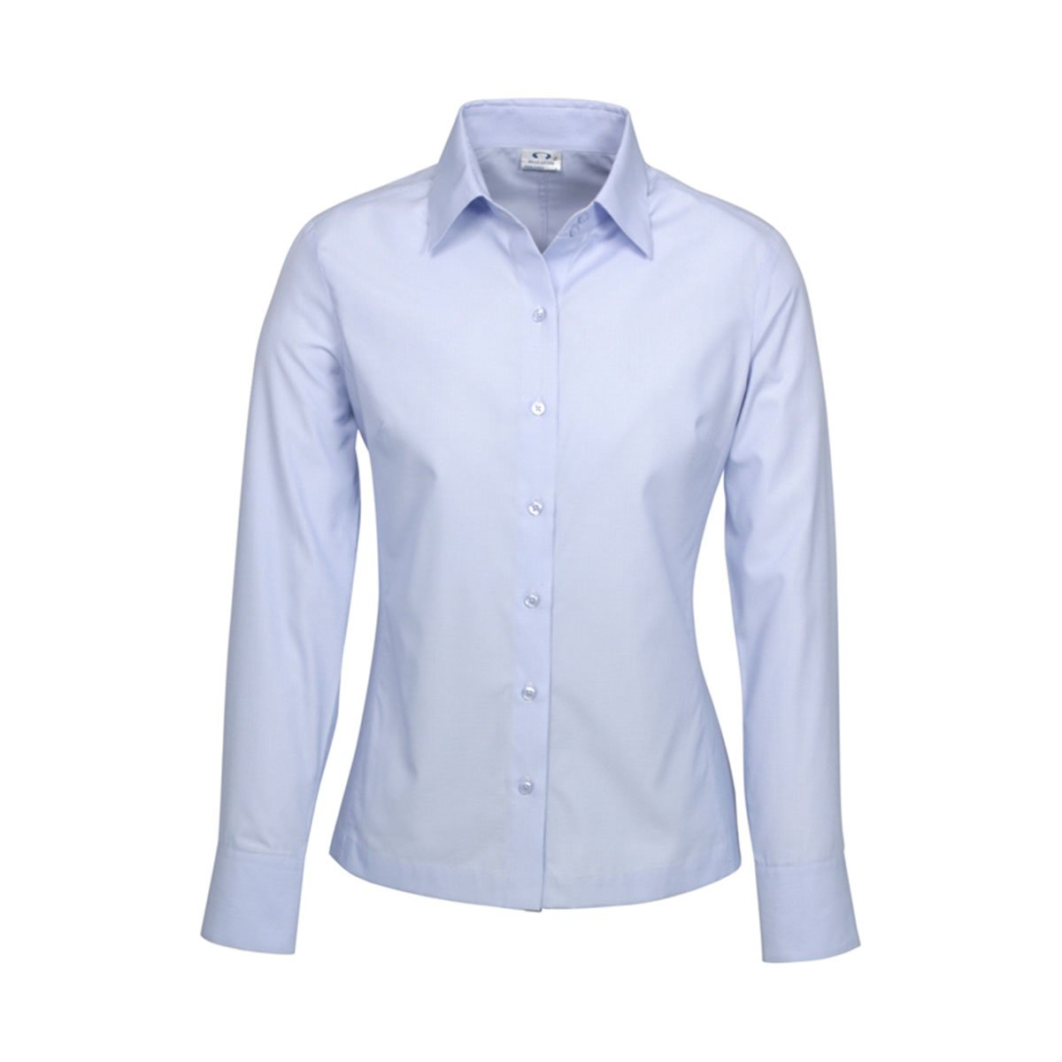 Ladies Ambassador Long Sleeve Shirt-Blue