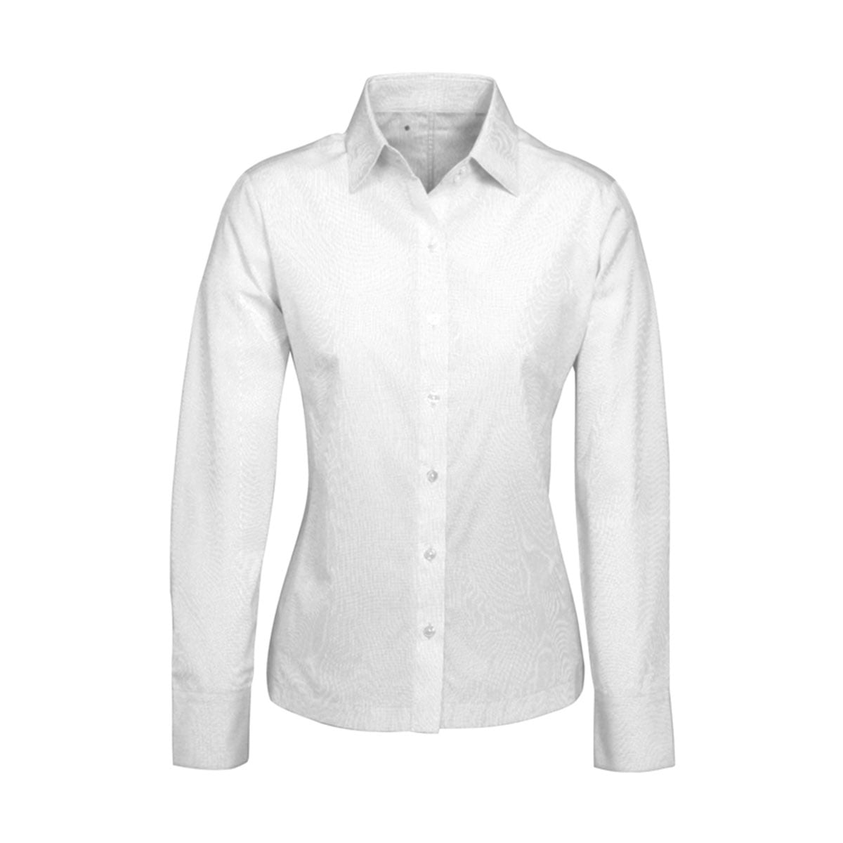 Ladies Ambassador Long Sleeve Shirt-White