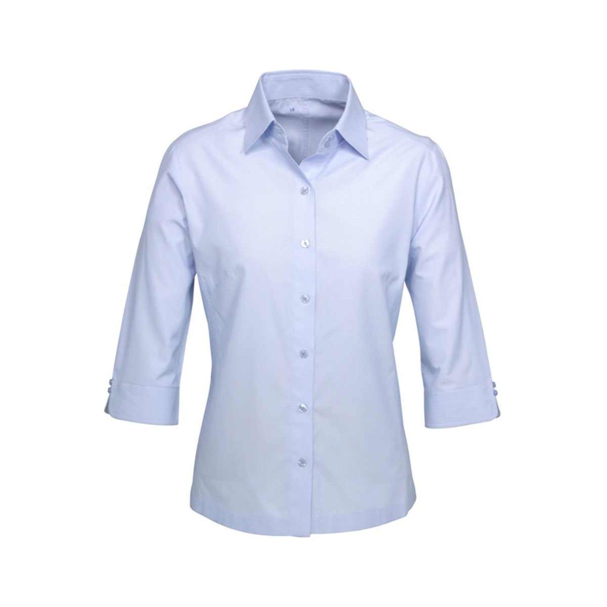 Ladies Ambassador 3/4 Sleeve Shirt-Blue