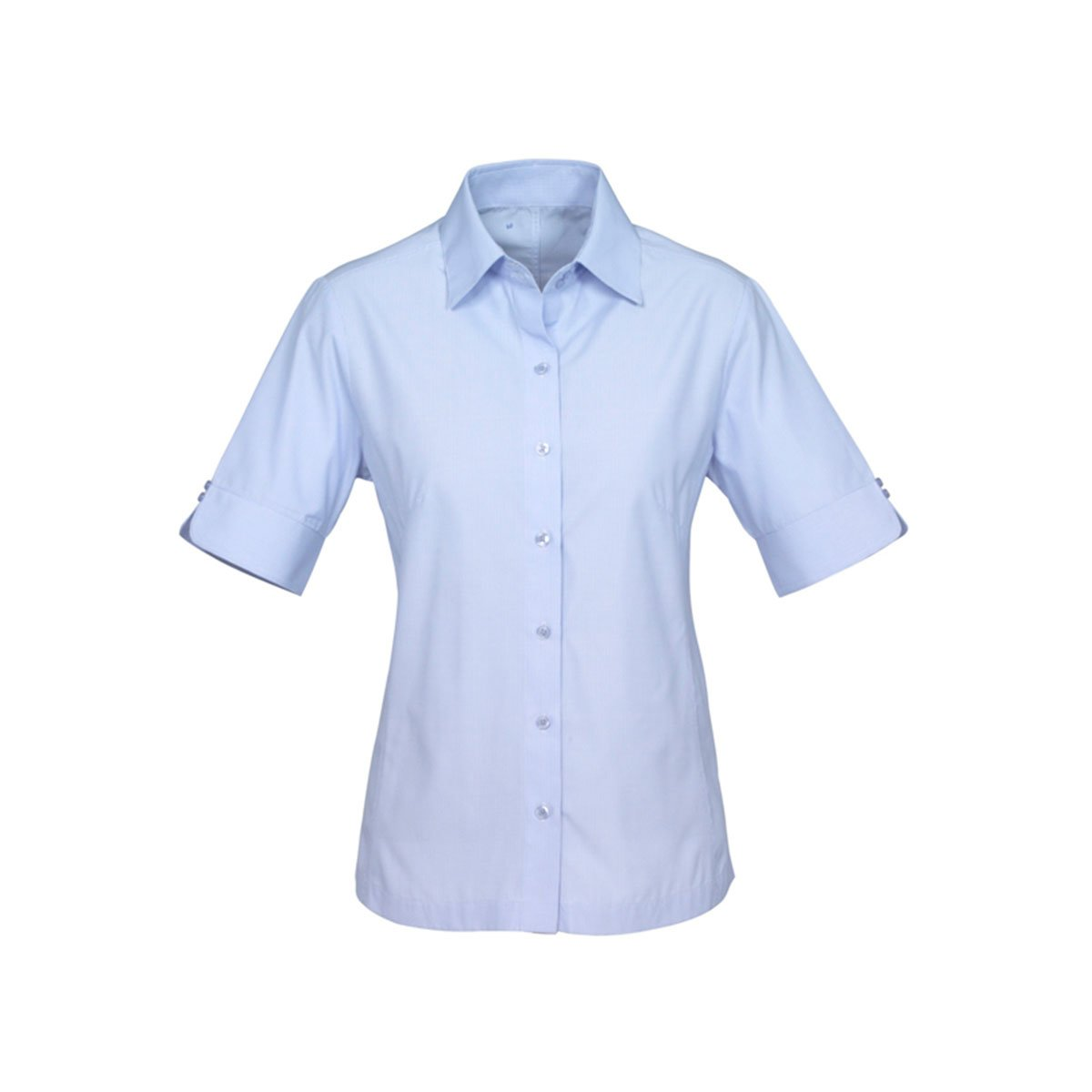 Ladies Ambassador Short Sleeve Shirt-Blue