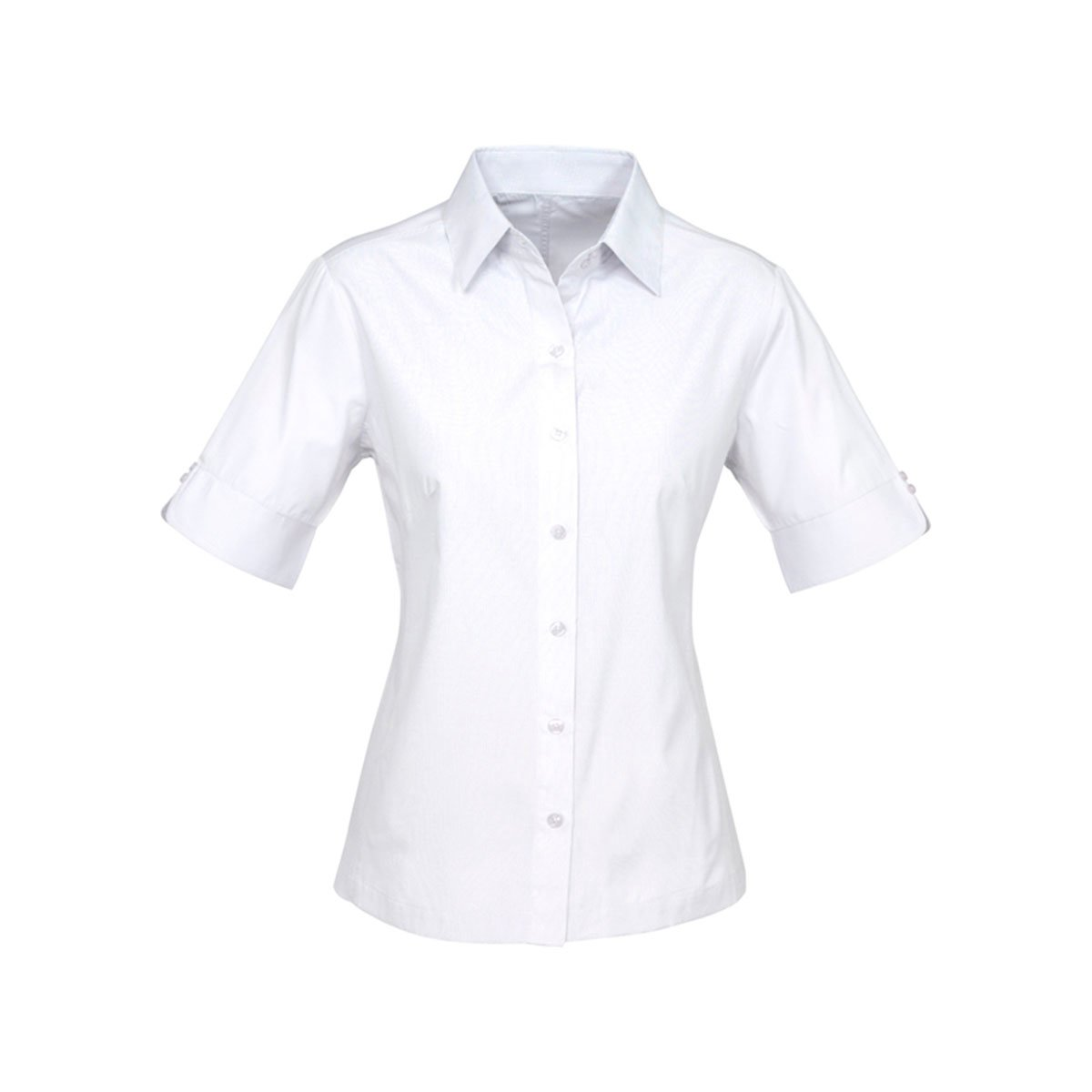 Ladies Ambassador Short Sleeve Shirt-White