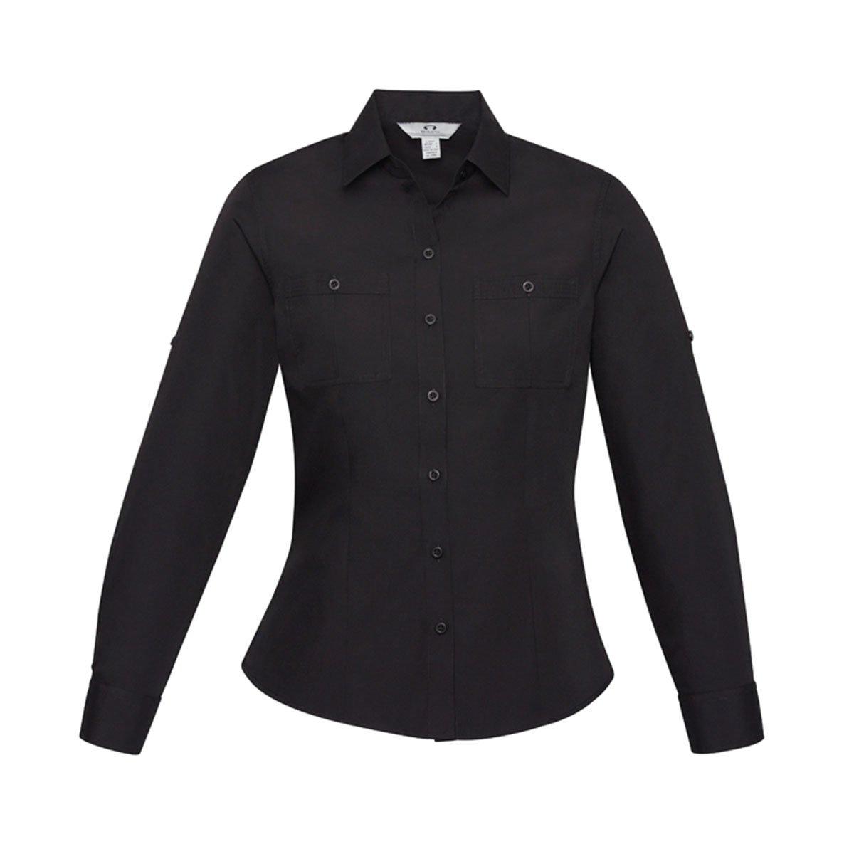 Ladies Bondi Long Sleeve Shirt-Sand