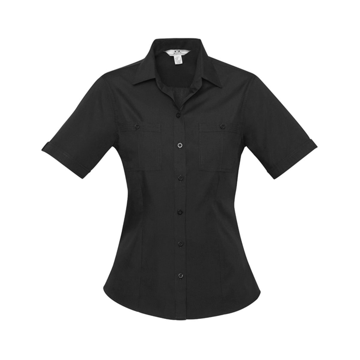 Ladies Bondi Short Sleeve Shirt-Black