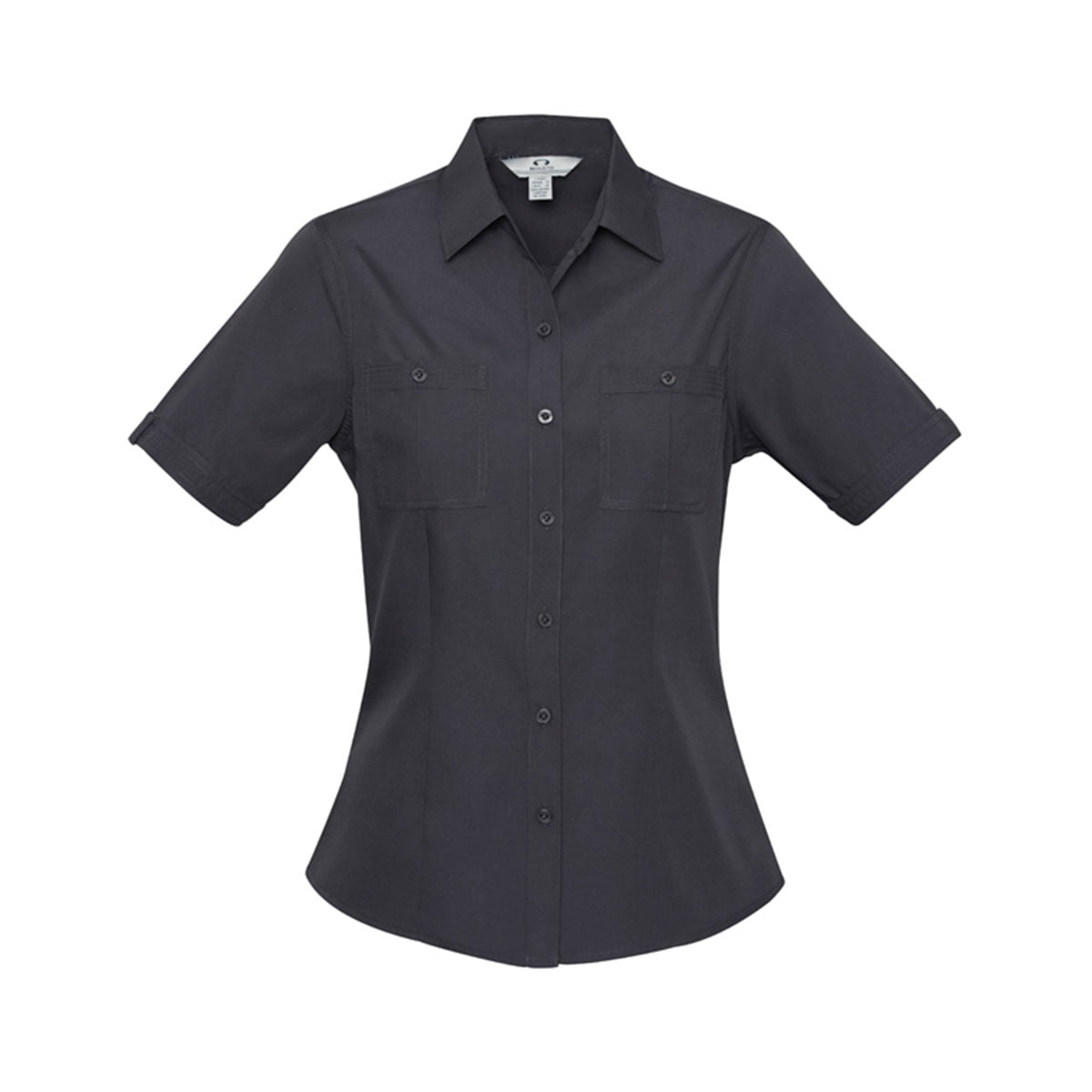 Ladies Bondi Short Sleeve Shirt-Charcoal