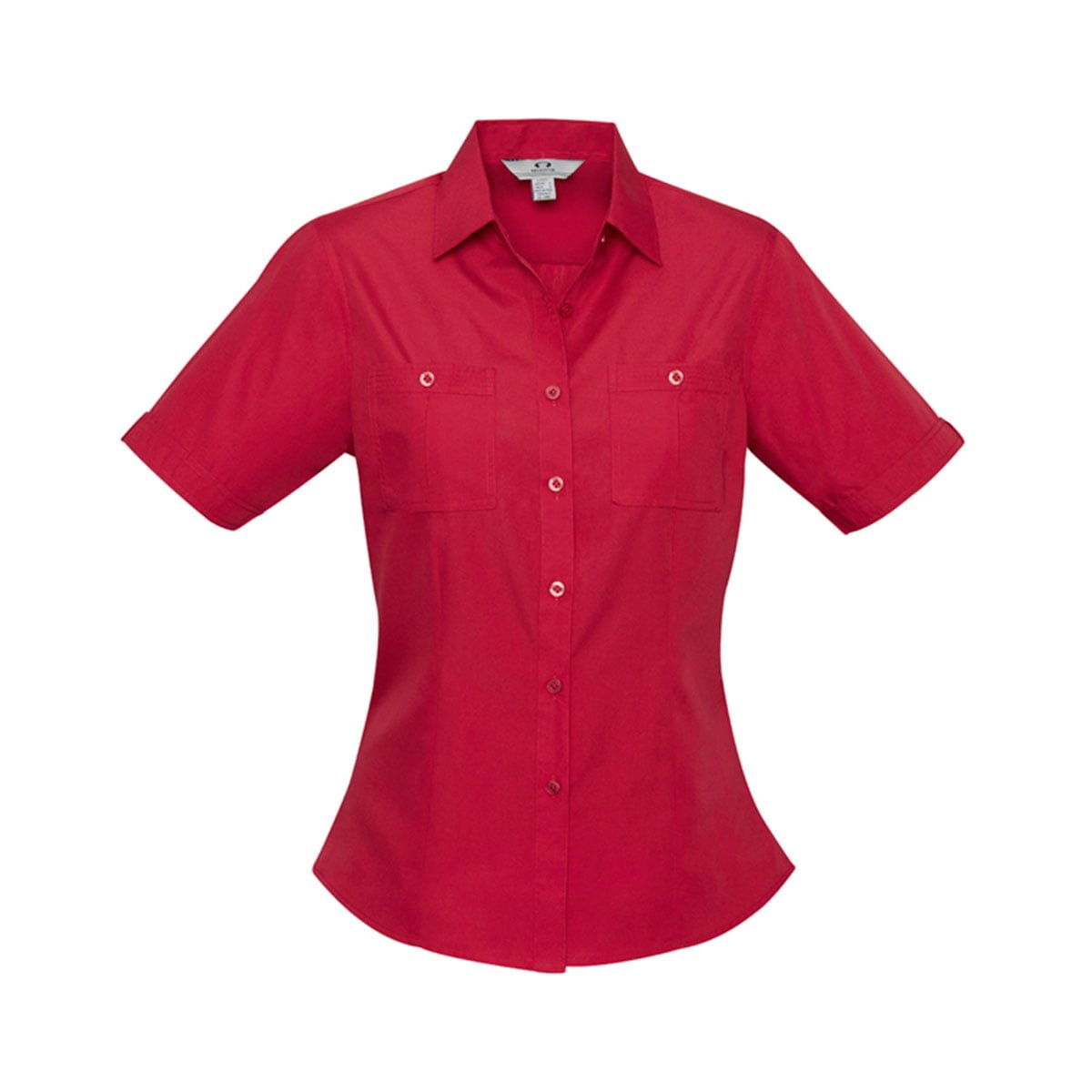 Ladies Bondi Short Sleeve Shirt-Deep Red