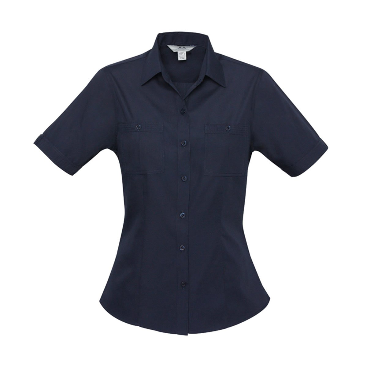 Ladies Bondi Short Sleeve Shirt-Navy