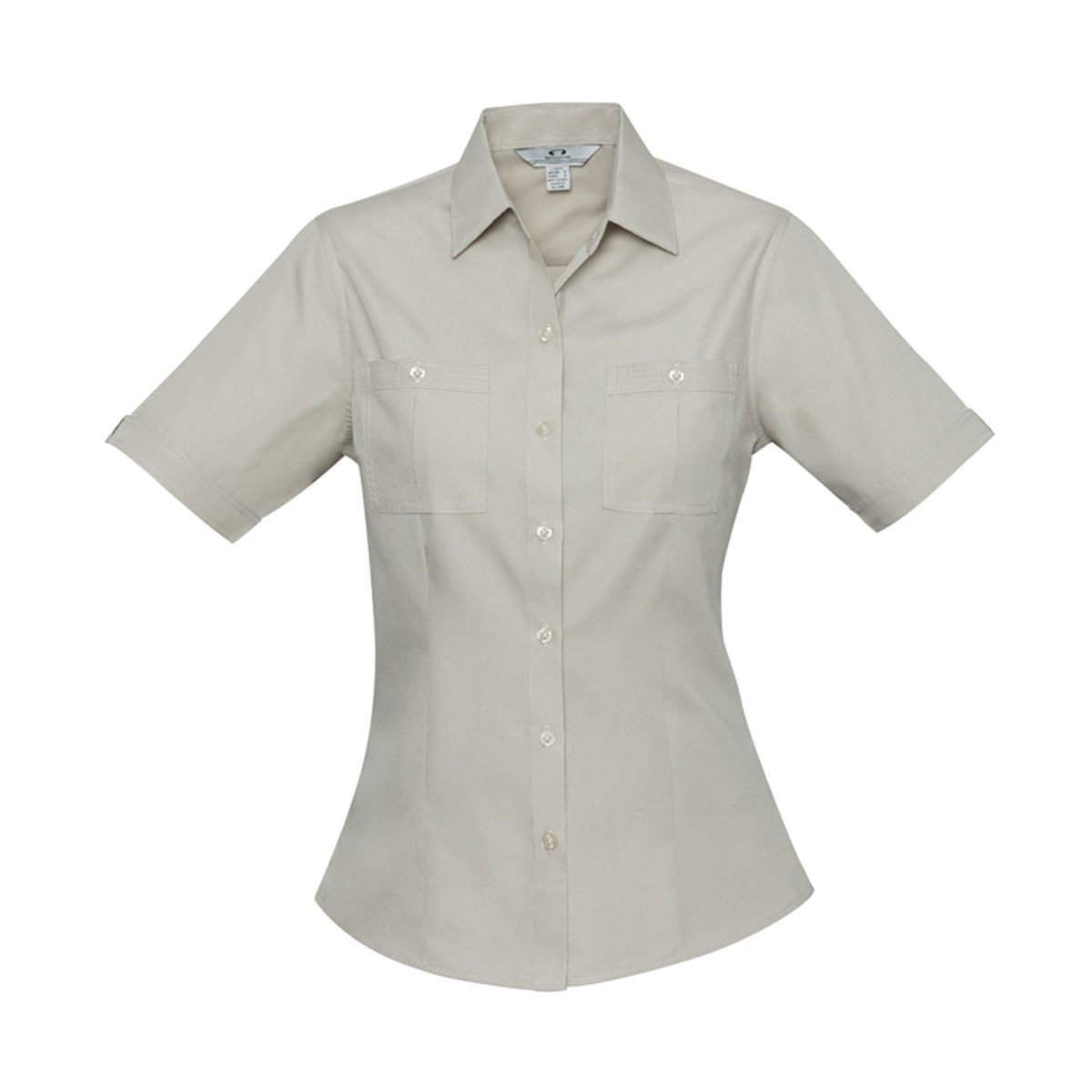 Ladies Bondi Short Sleeve Shirt-Sand