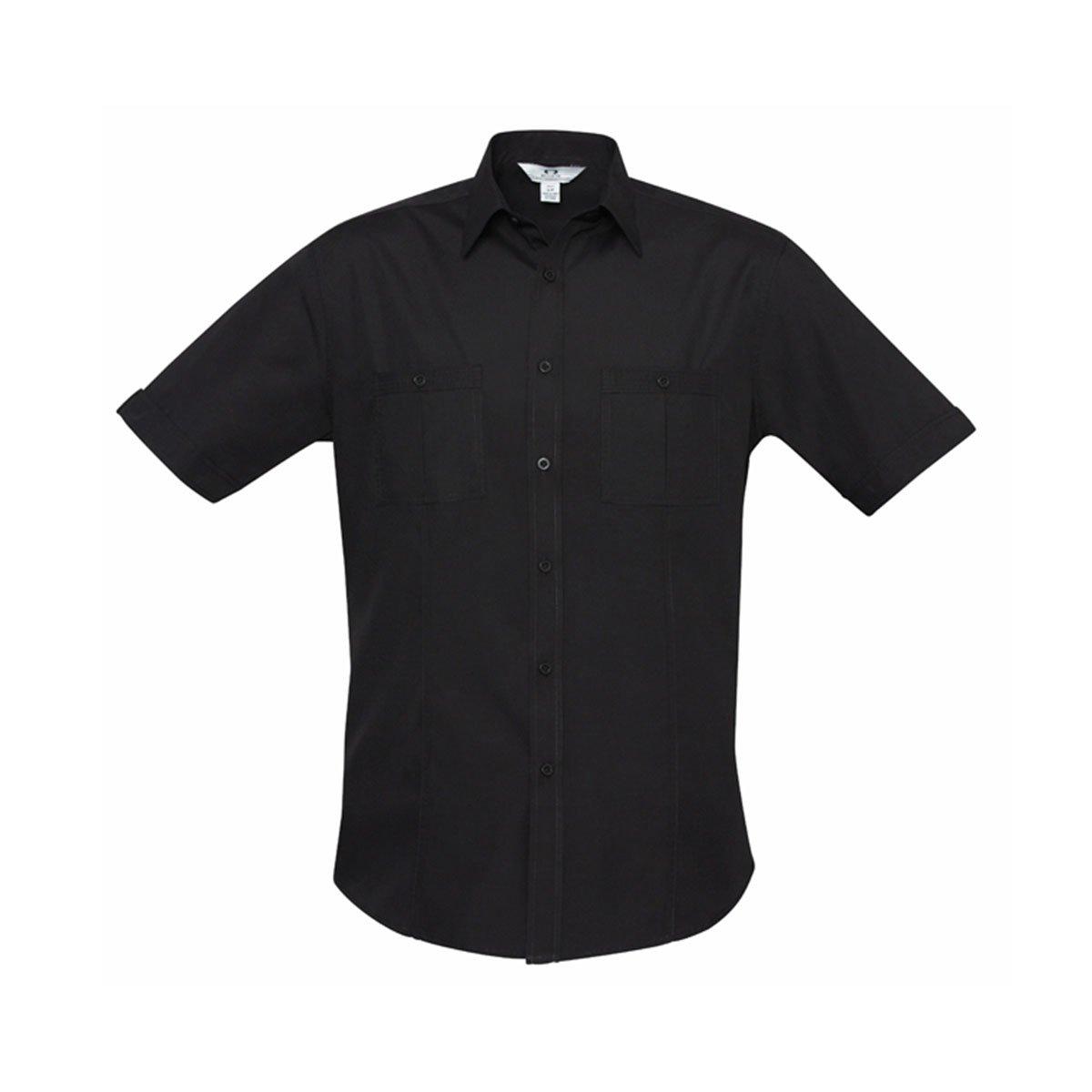 Mens Bondi Short Sleeve Shirt-Black