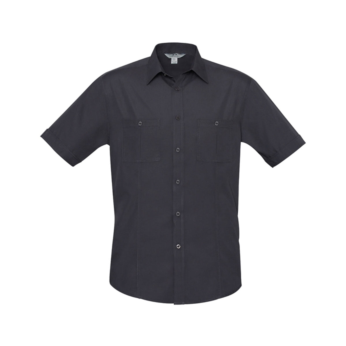 Mens Bondi Short Sleeve Shirt-Charcoal