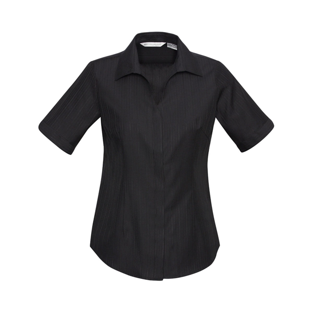 Ladies Preston Short Sleeve Shirt-Black