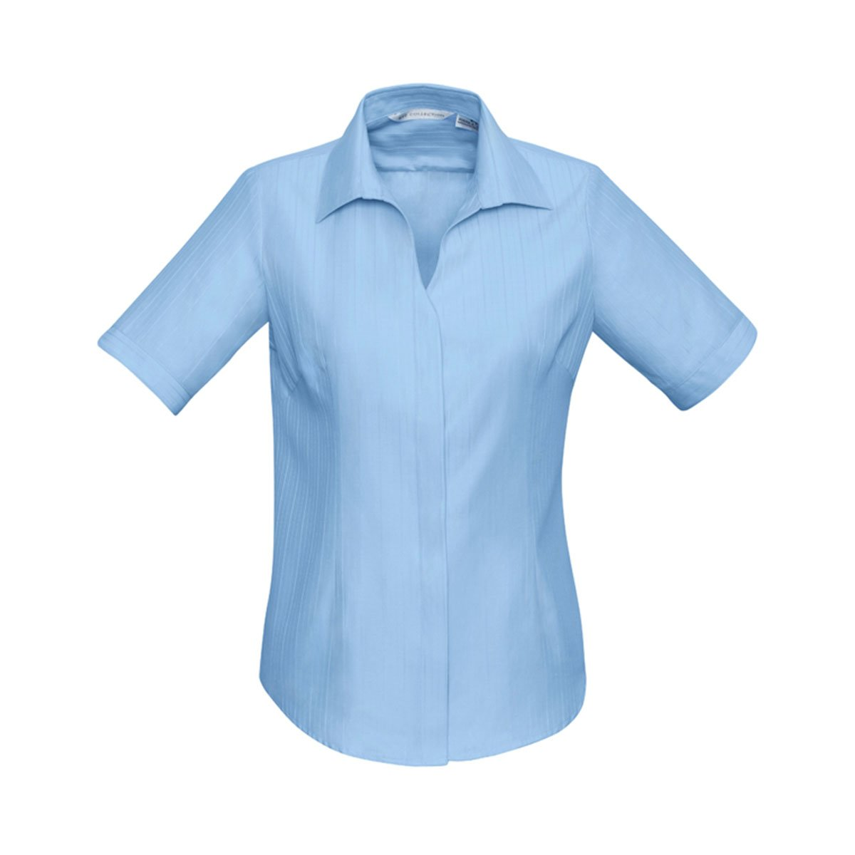 Ladies Preston Short Sleeve Shirt-Blue