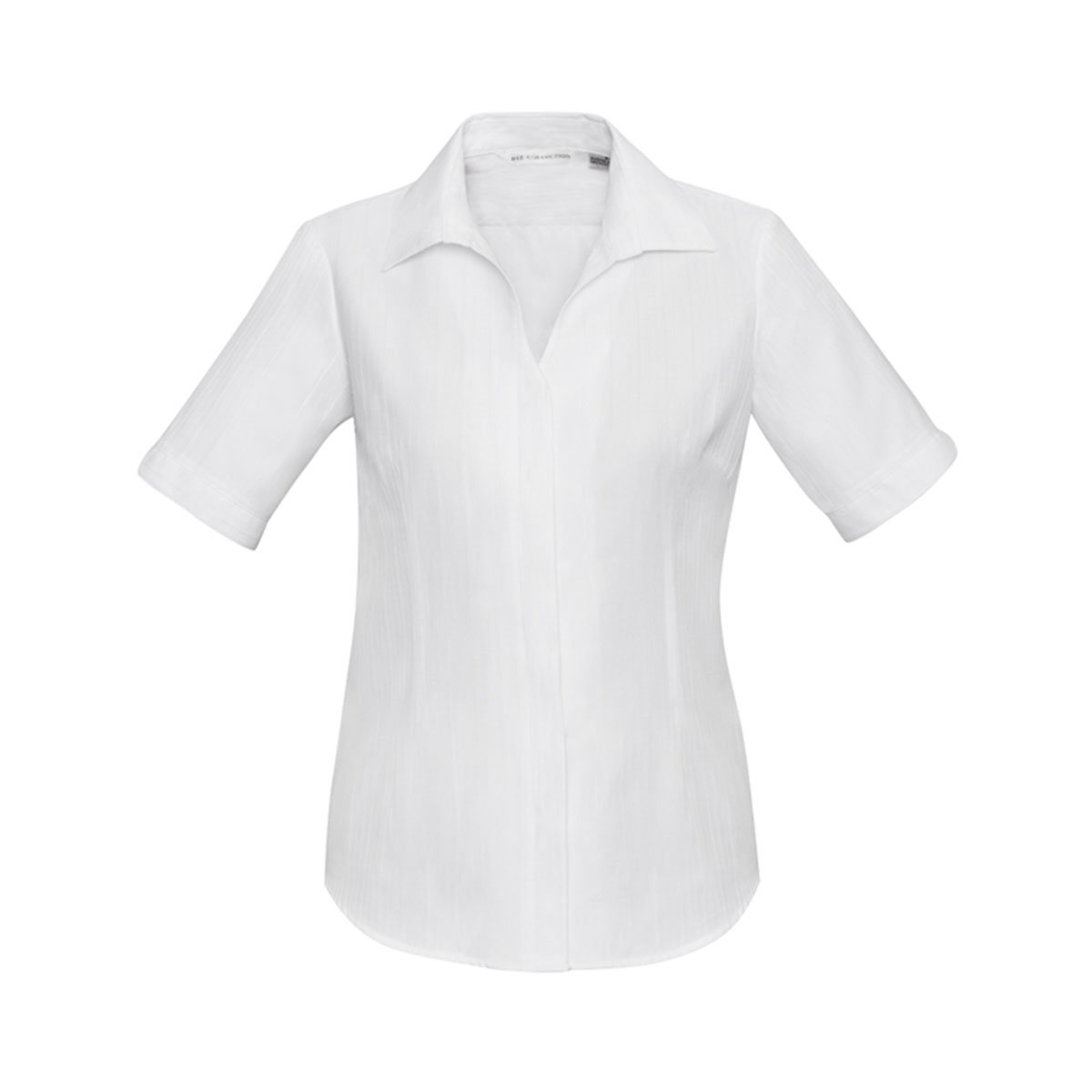 Ladies Preston Short Sleeve Shirt-White