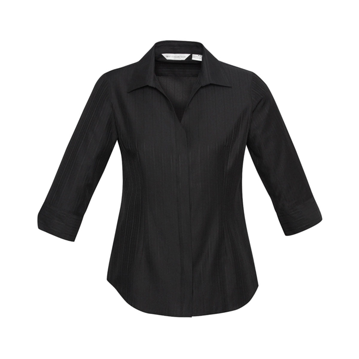 Ladies Preston 3/4 Sleeve Shirt-Black