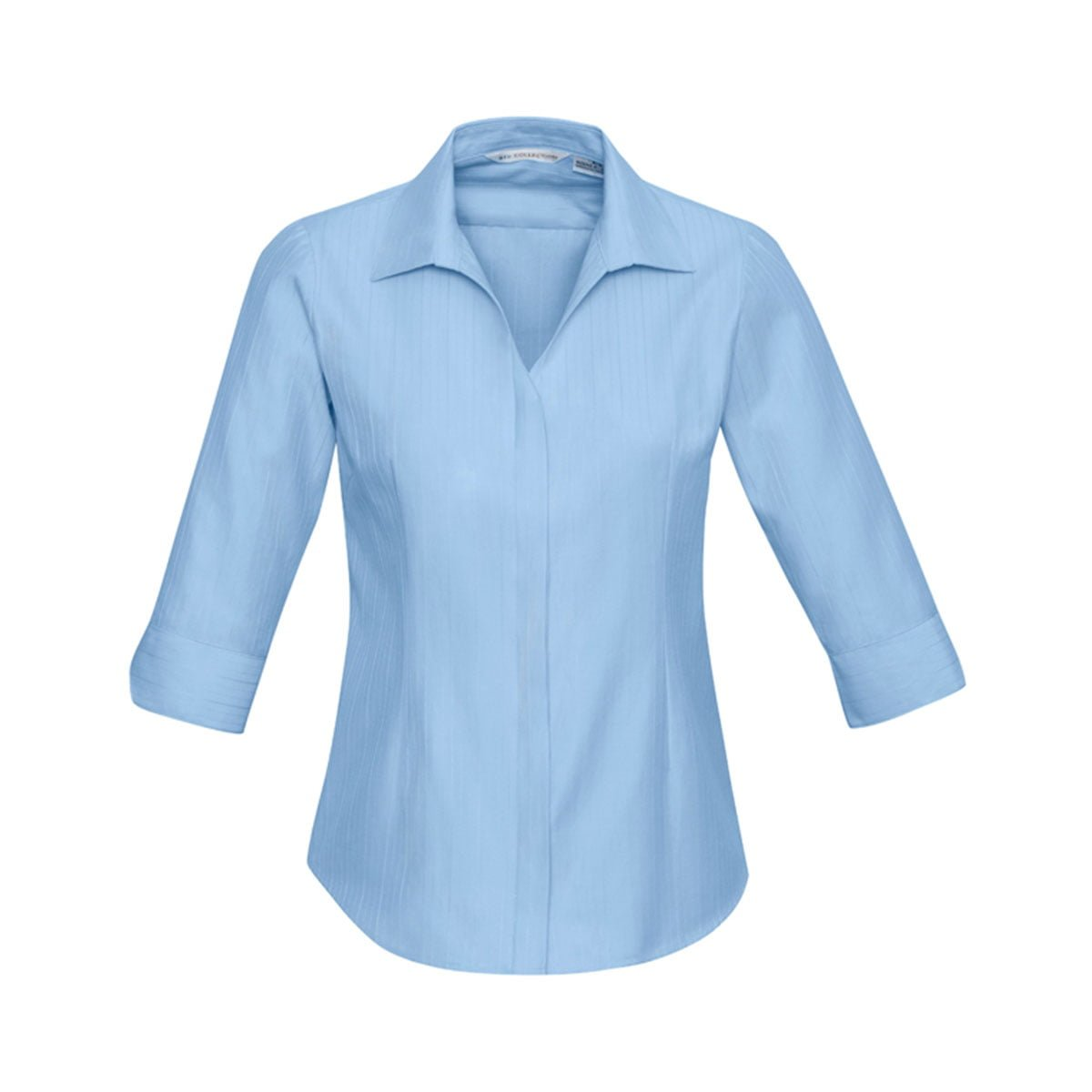 Ladies Preston 3/4 Sleeve Shirt-Blue