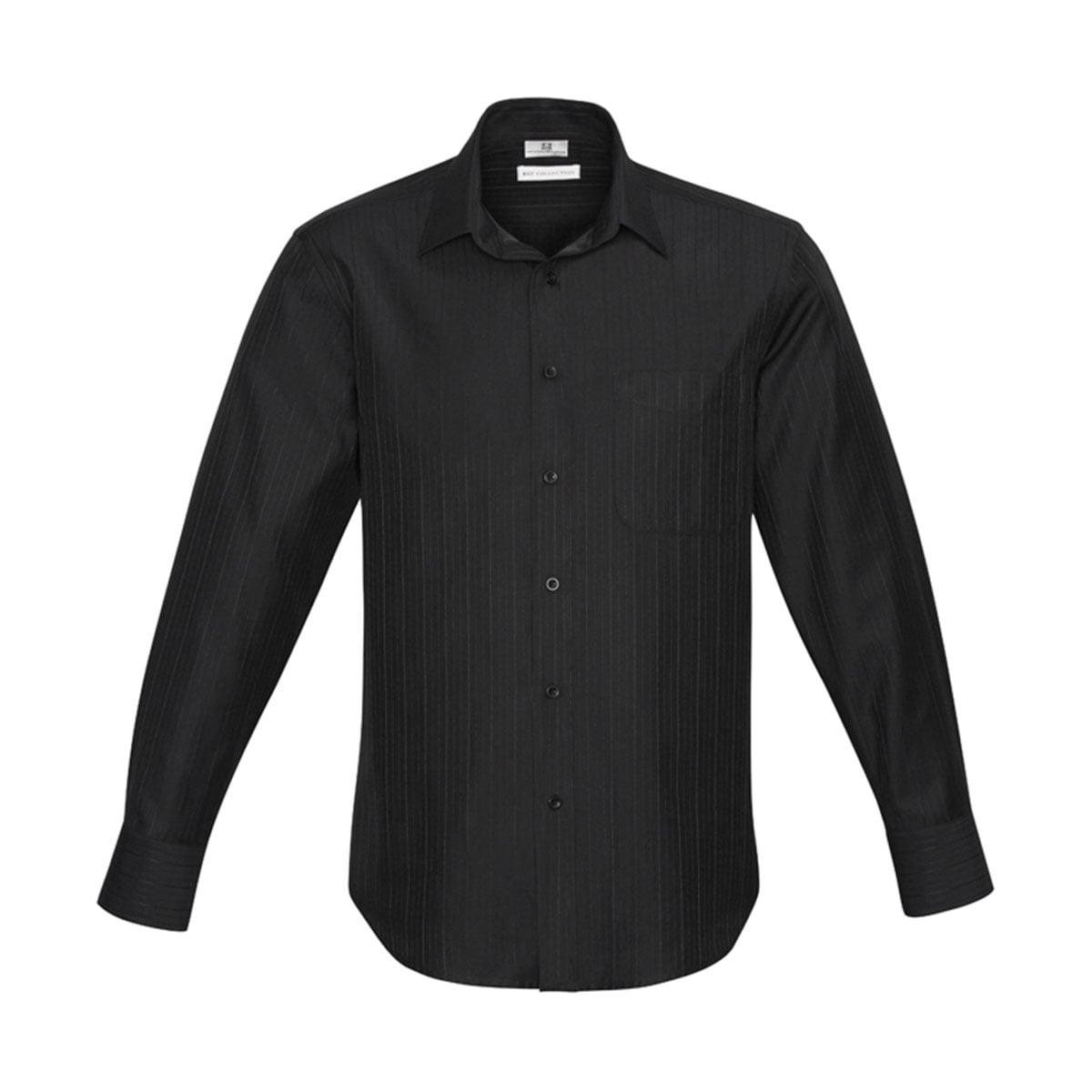 Mens Preston Long Sleeve Shirt-Black