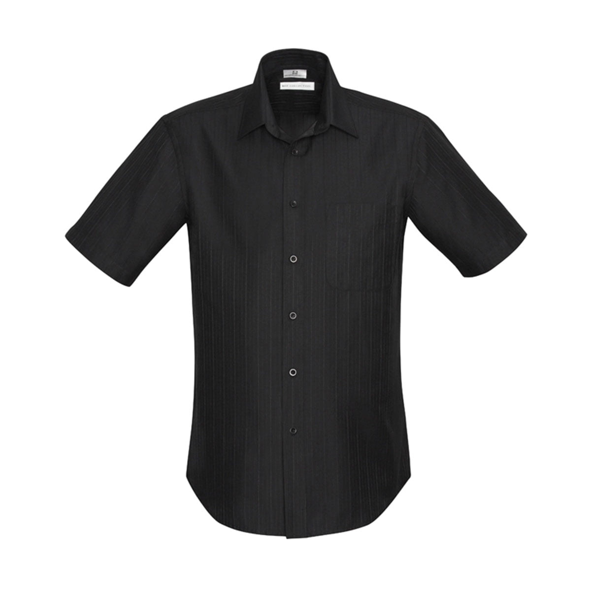 Mens Preston Short Sleeve Shirt-Black