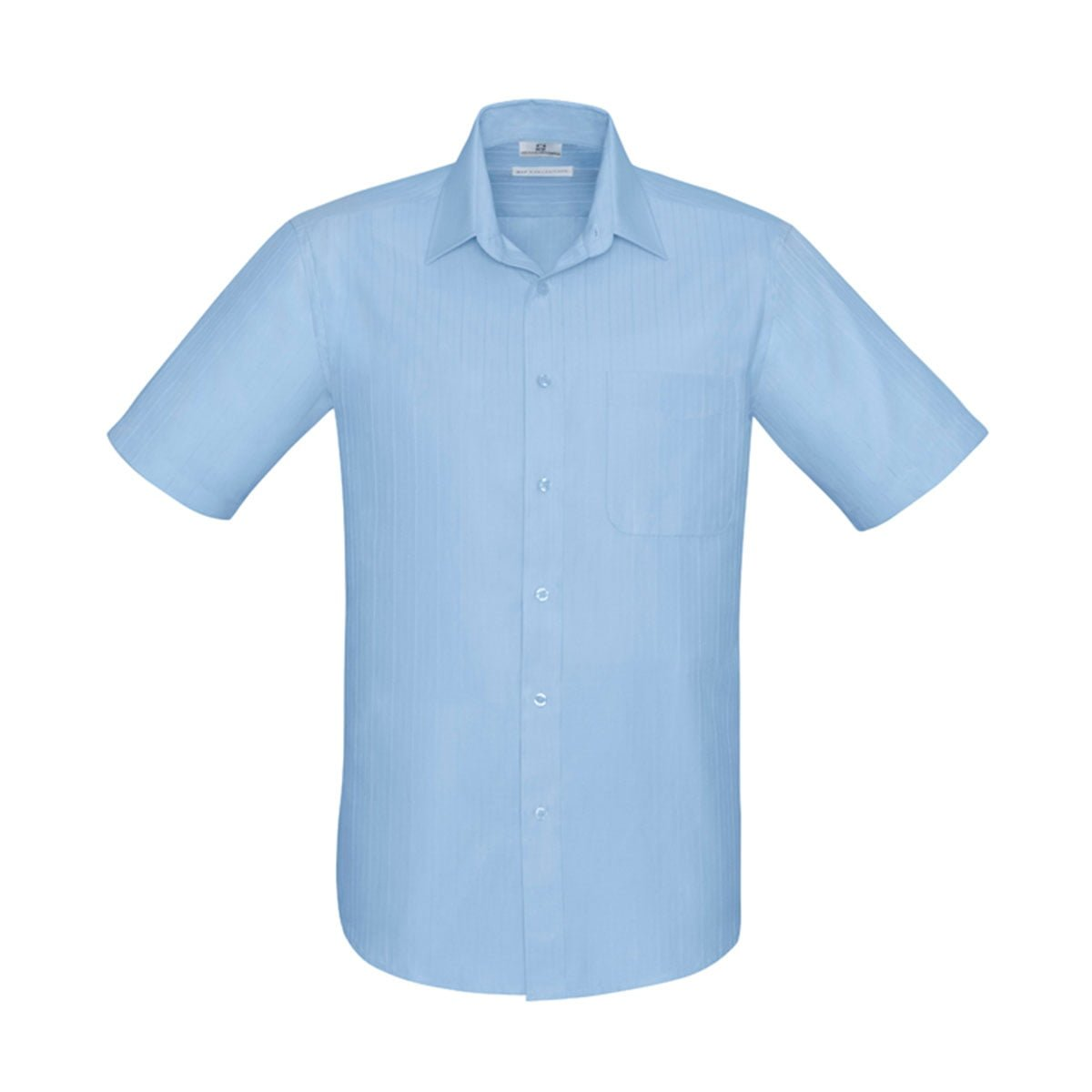 Mens Preston Short Sleeve Shirt-Blue
