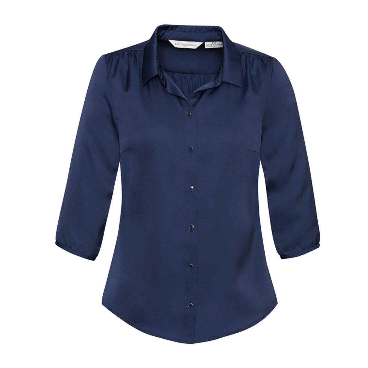 Ladies Shimmer Blouse-Midnight Blue