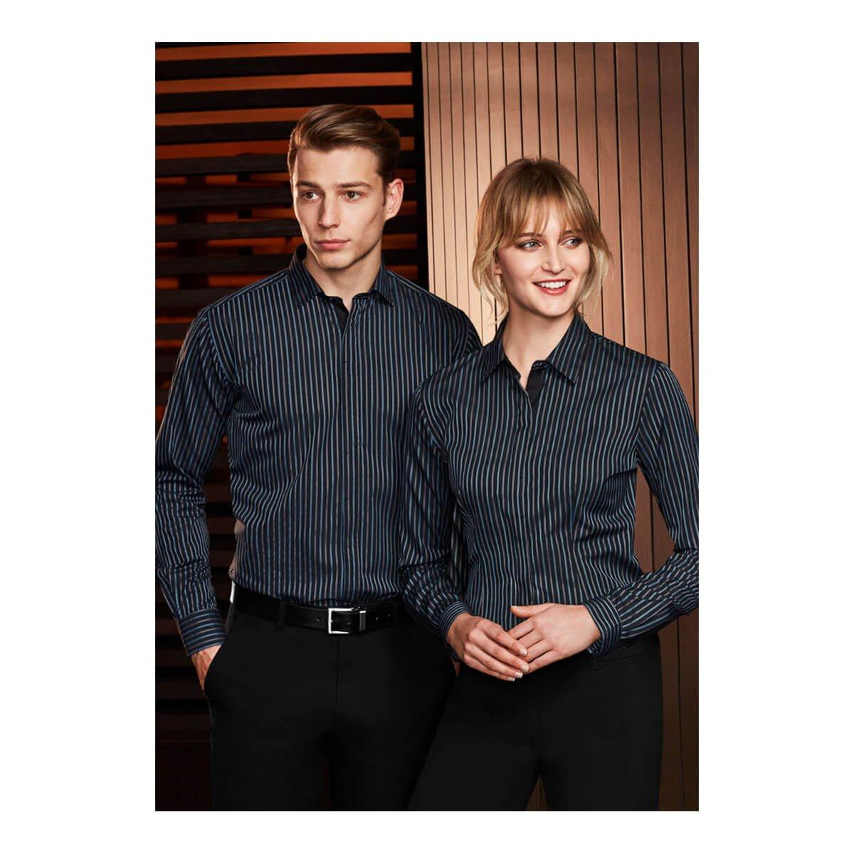 Mens Reno Stripe Long Sleeve Shirt