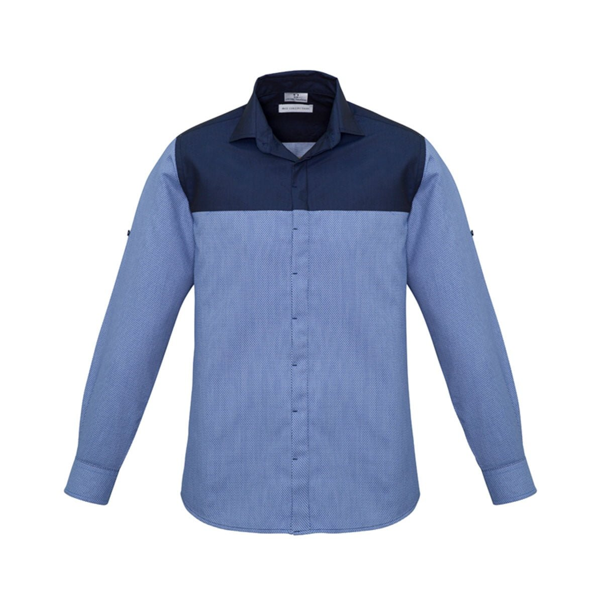 Mens Havana Long Sleeve Shirt-Denim
