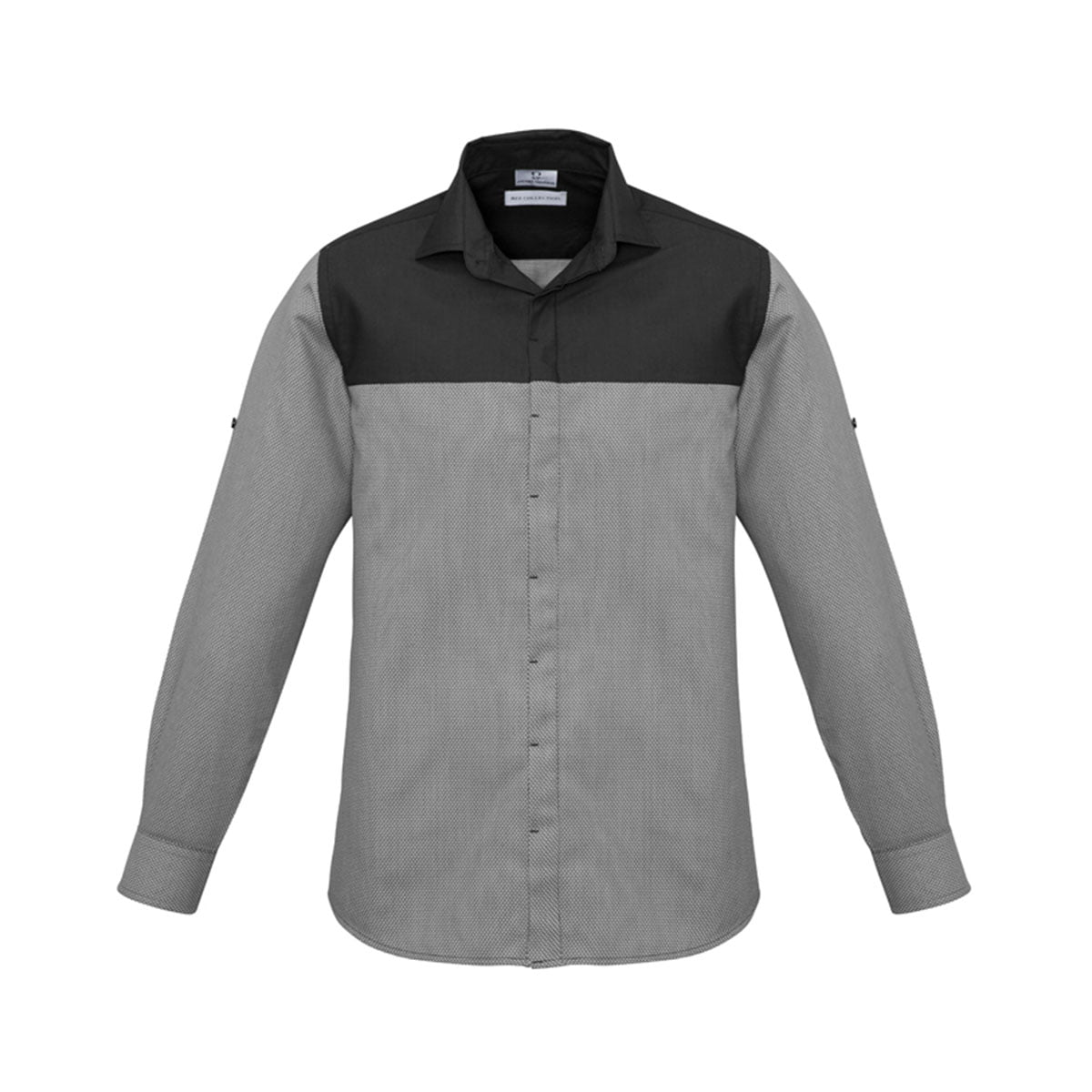 Mens Havana Long Sleeve Shirt-Slate