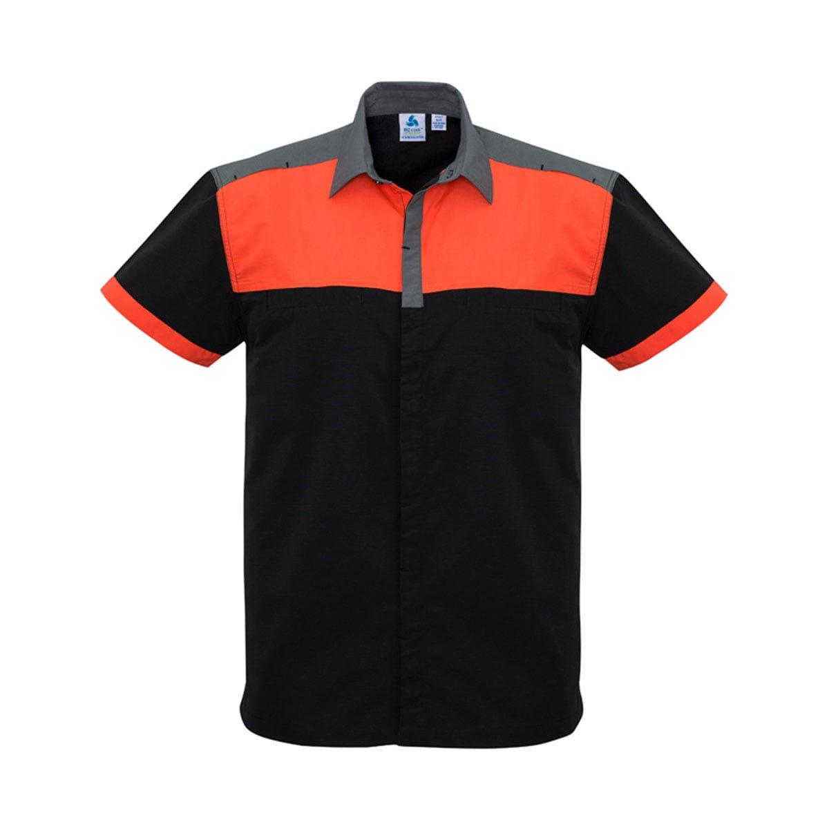 Mens Charger Shirt-Black / Fluoro Orange / Grey