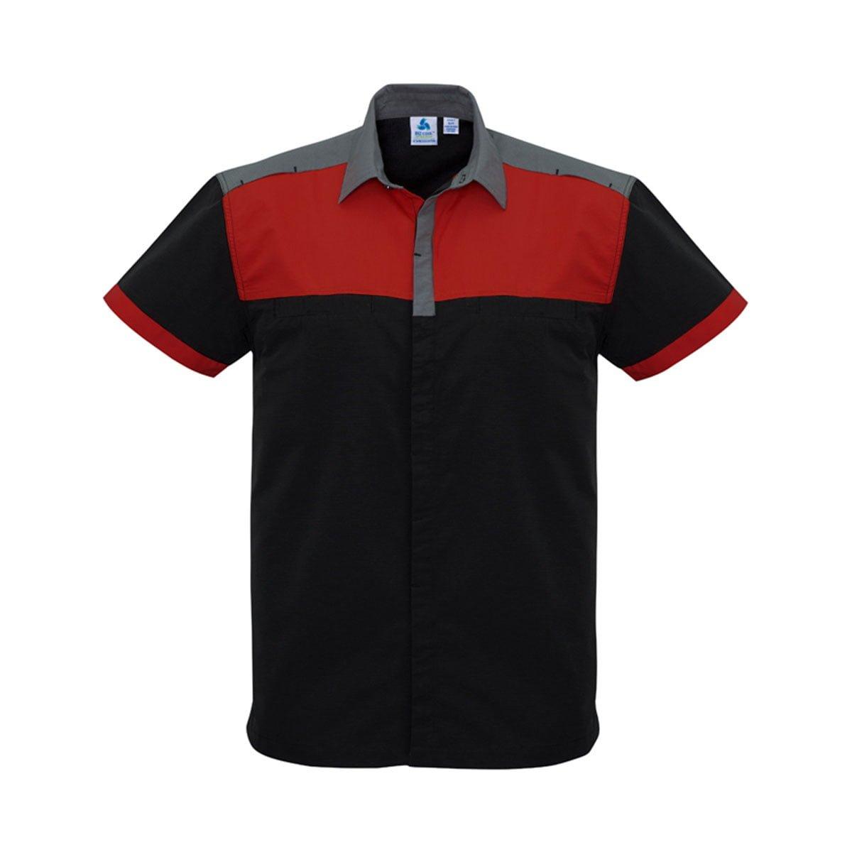 Mens Charger Shirt-Black / Red / Grey