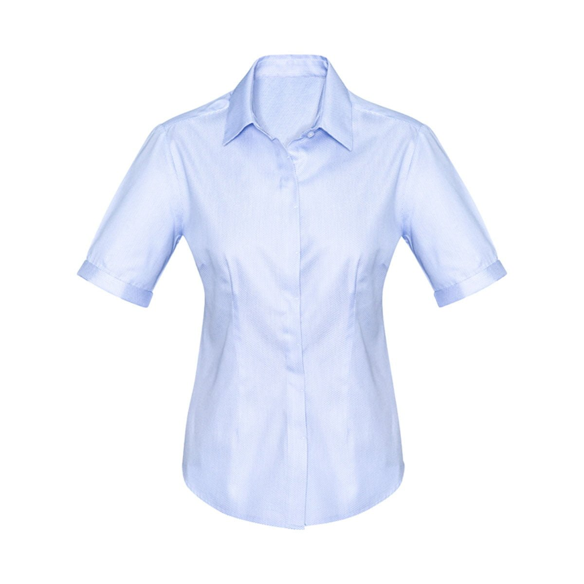 Ladies Stirling Short Sleeve Shirt-Blue