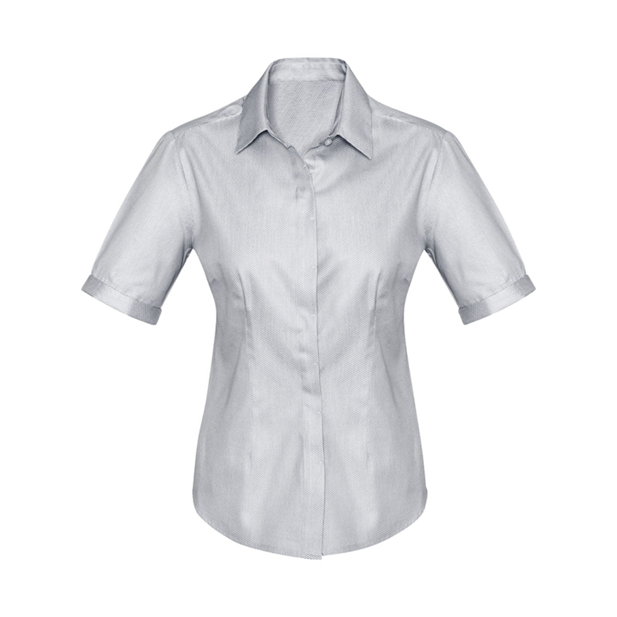 Ladies Stirling Short Sleeve Shirt-Silver
