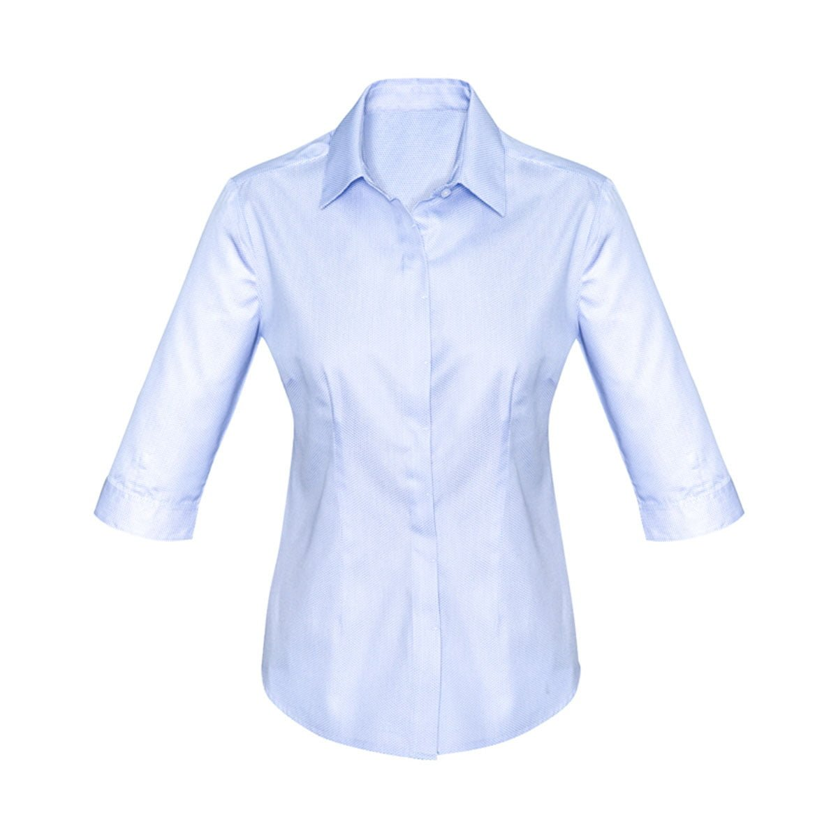Ladies Stirling 3/4 Sleeve Shirt-Blue