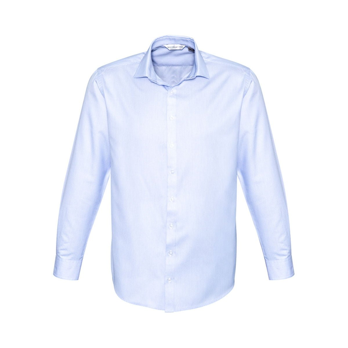 Mens Stirling Long Sleeve Shirt-Blue