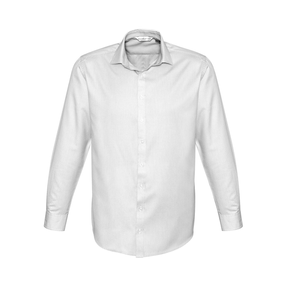 Mens Stirling Long Sleeve Shirt-Silver