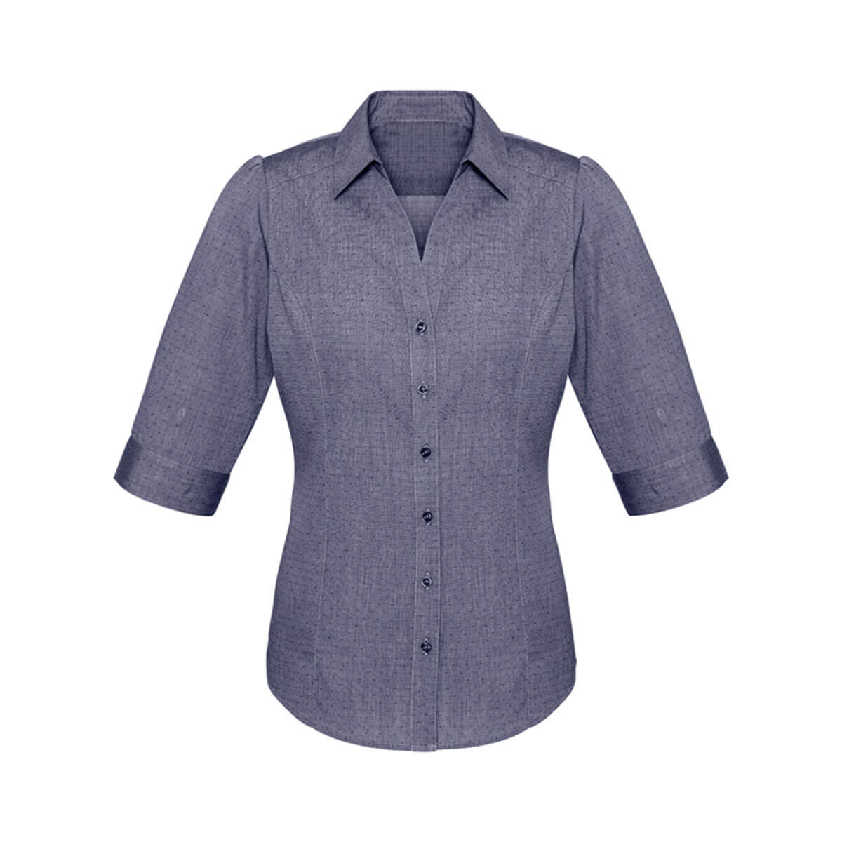 Ladies Trend 3/4 Sleeve Shirt-Midnight Blue