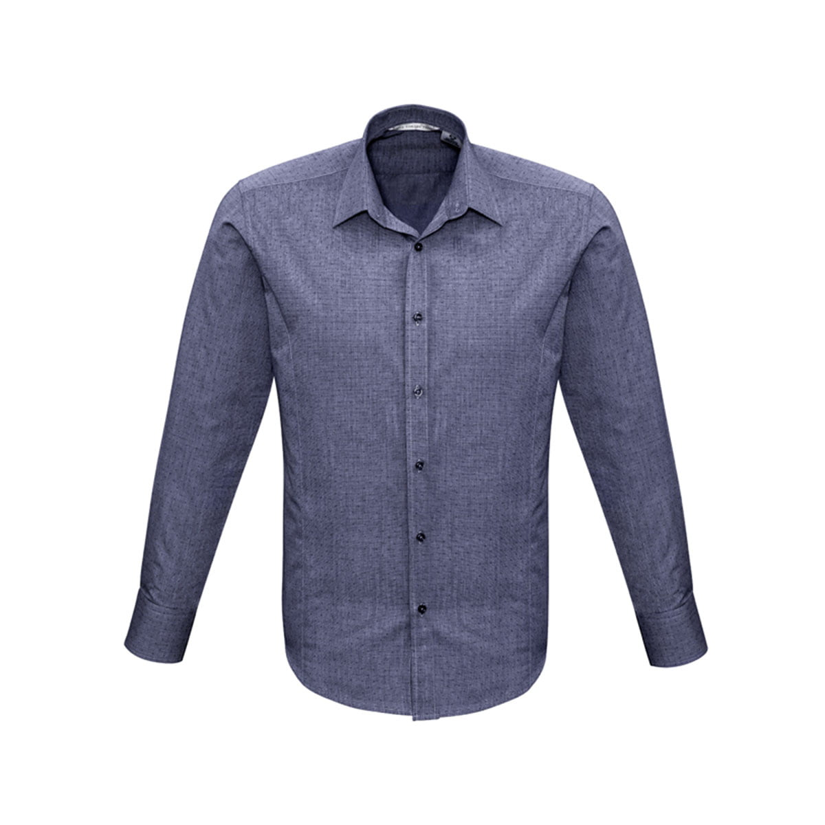 Mens Trend Long Sleeve Shirt-Midnight Blue