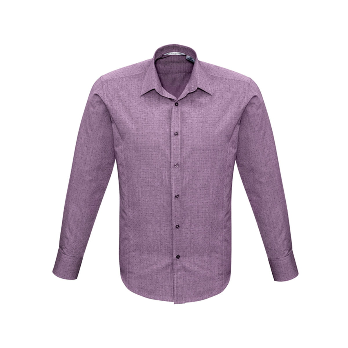 Mens Trend Long Sleeve Shirt-Plum