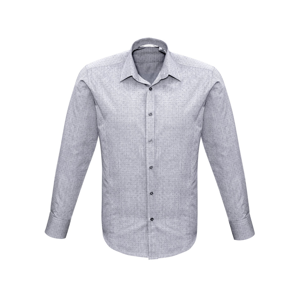Mens Trend Long Sleeve Shirt-Silver
