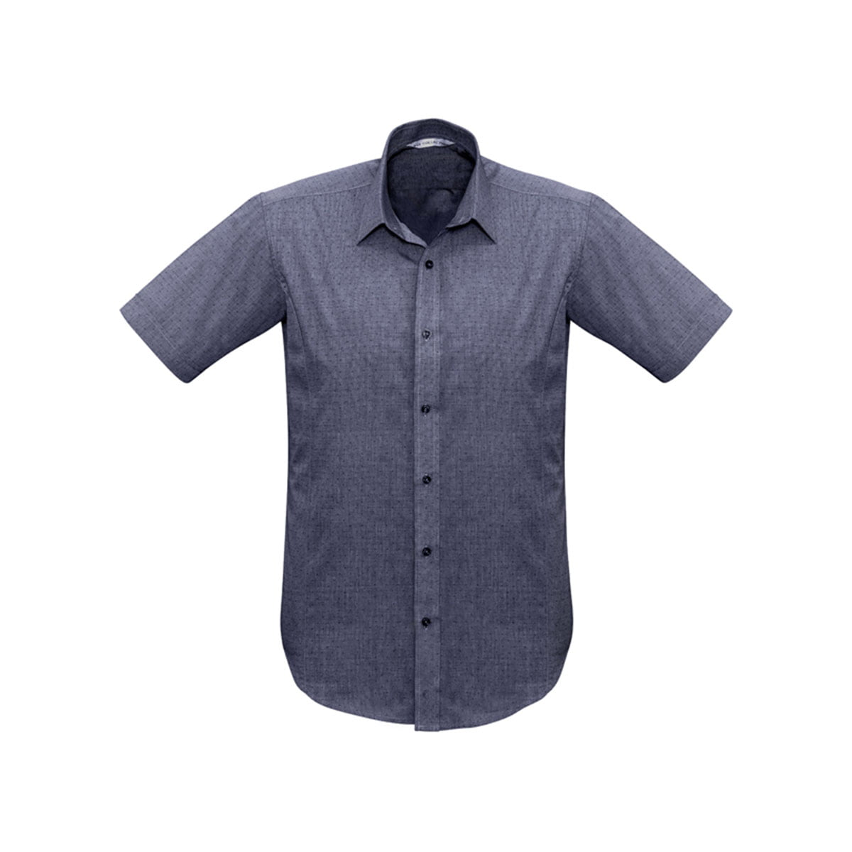 Mens Trend Short Sleeve Shirt-Midnight Blue