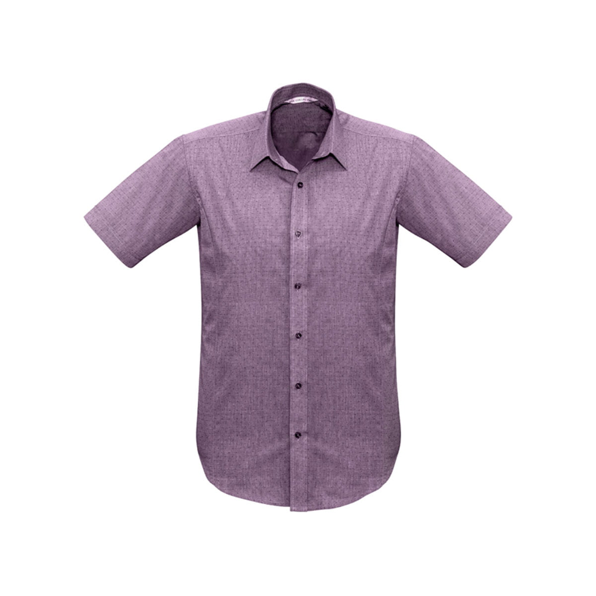 Mens Trend Short Sleeve Shirt-Plum