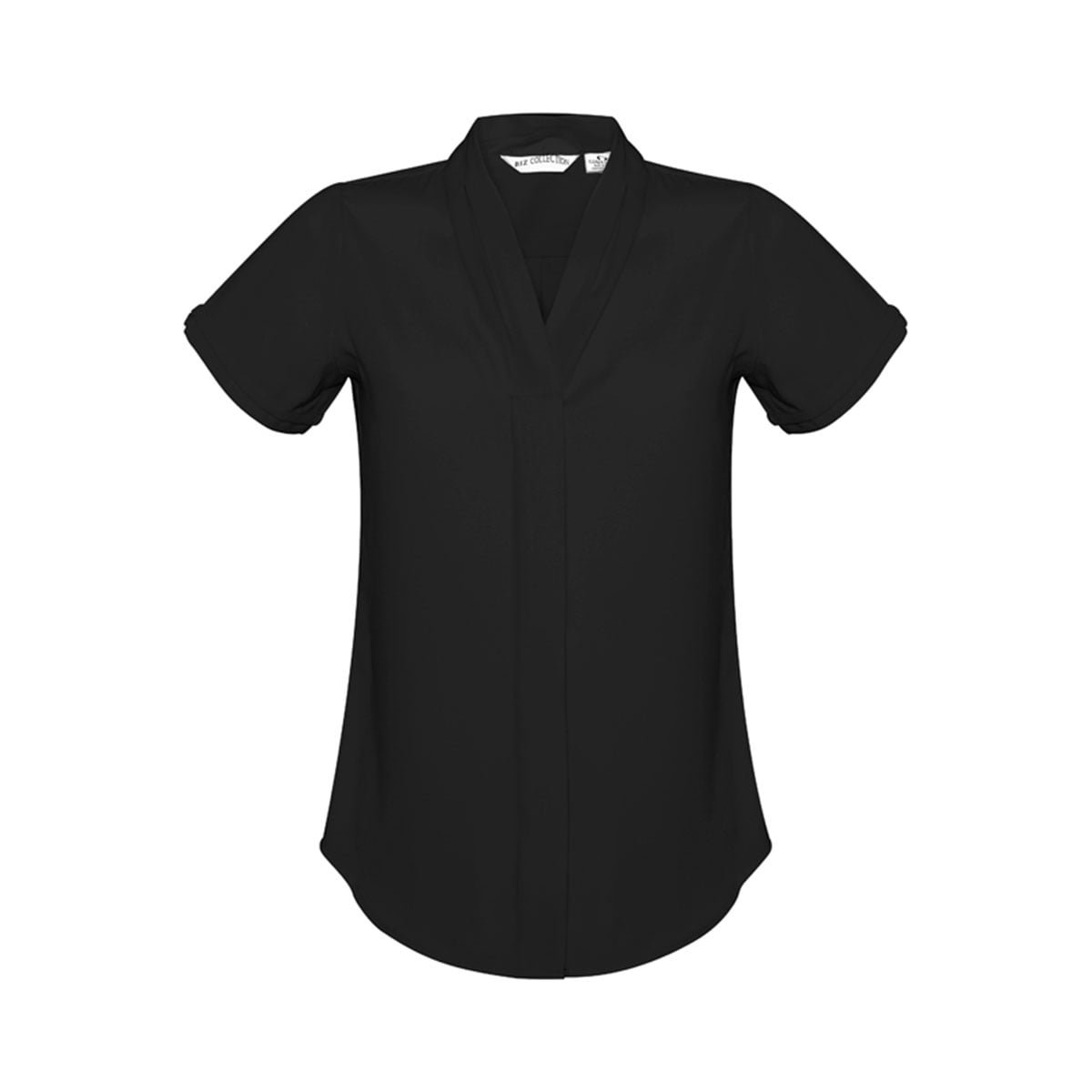 Ladies Madison Short Sleeve-Black