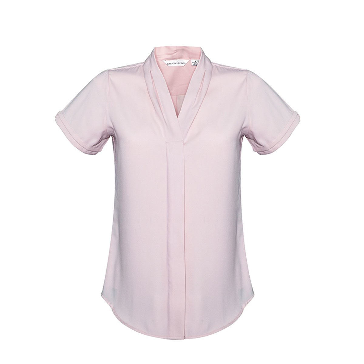 Ladies Madison Short Sleeve-Blush Pink