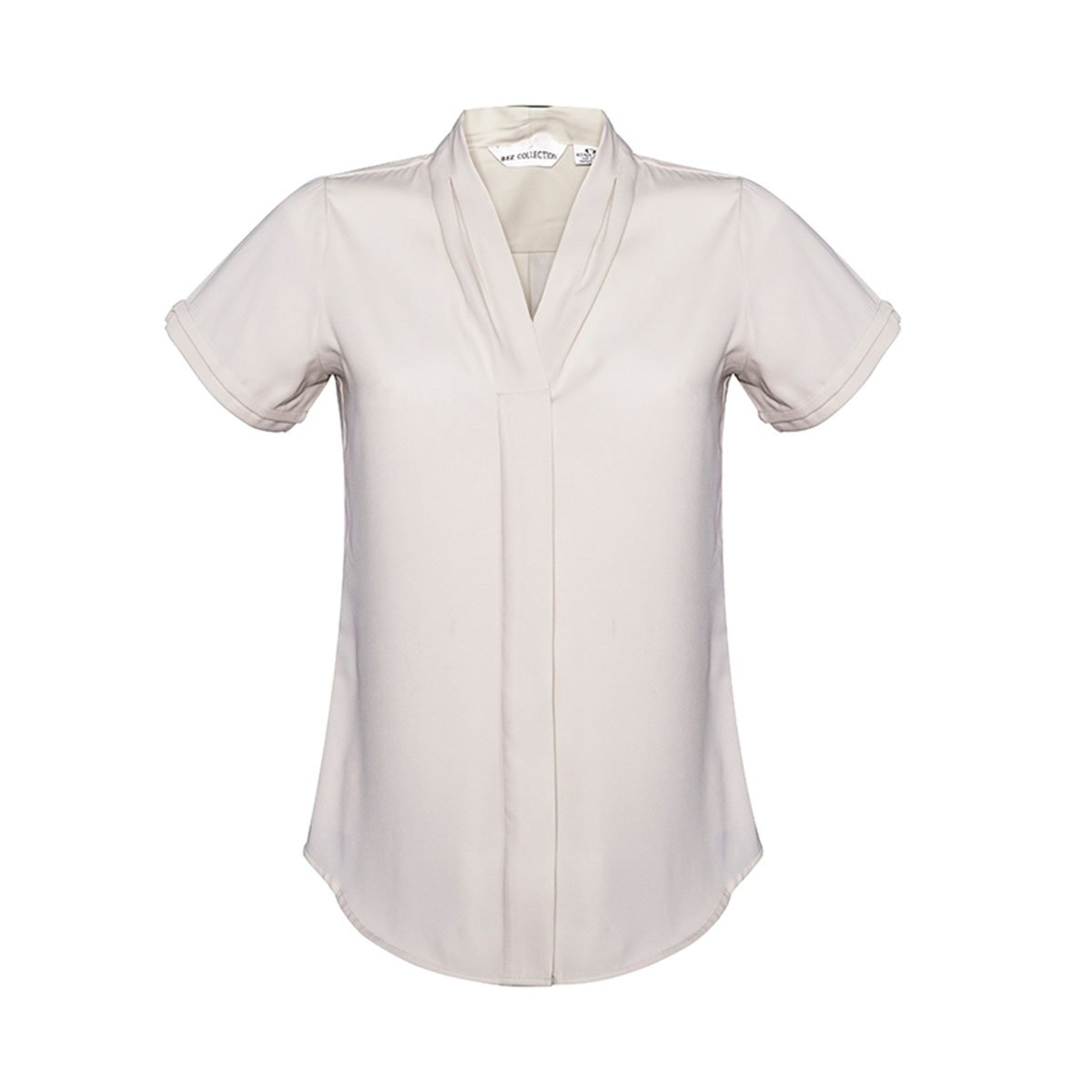 Ladies Madison Short Sleeve-Ivory