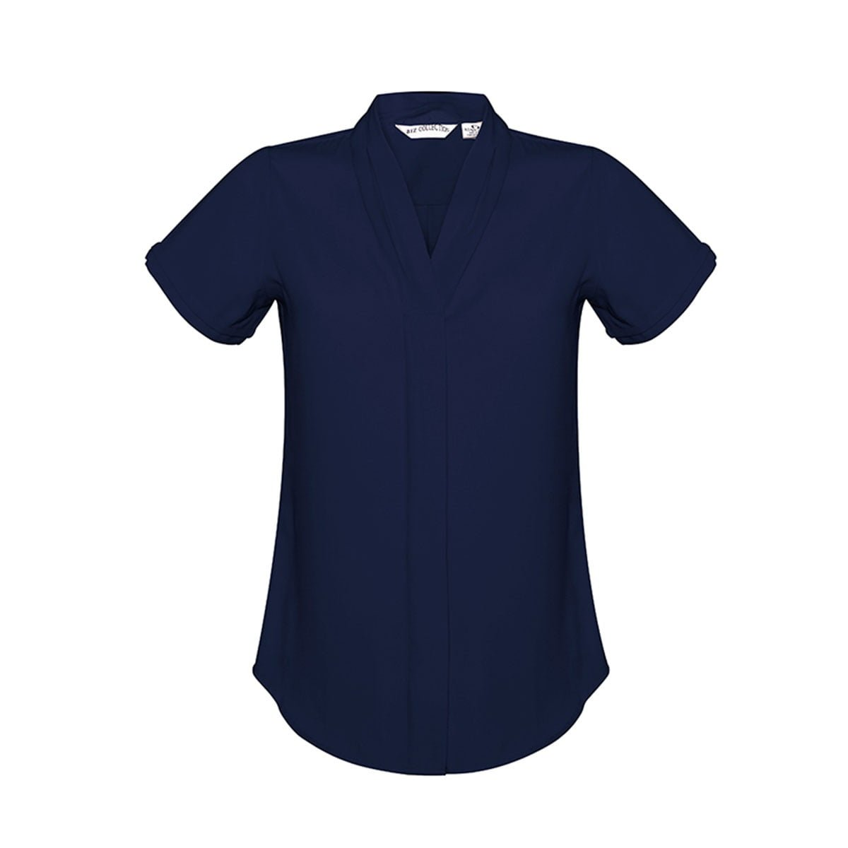 Ladies Madison Short Sleeve-Midnight Blue
