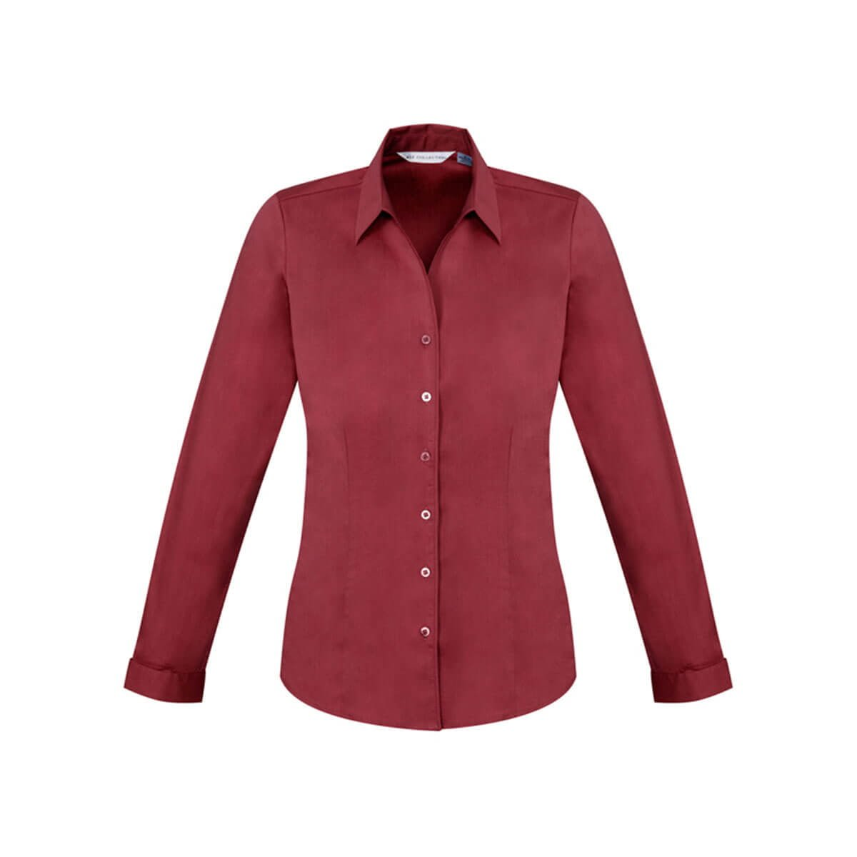 Ladies Monaco Long Sleeve Shirt-Cherry