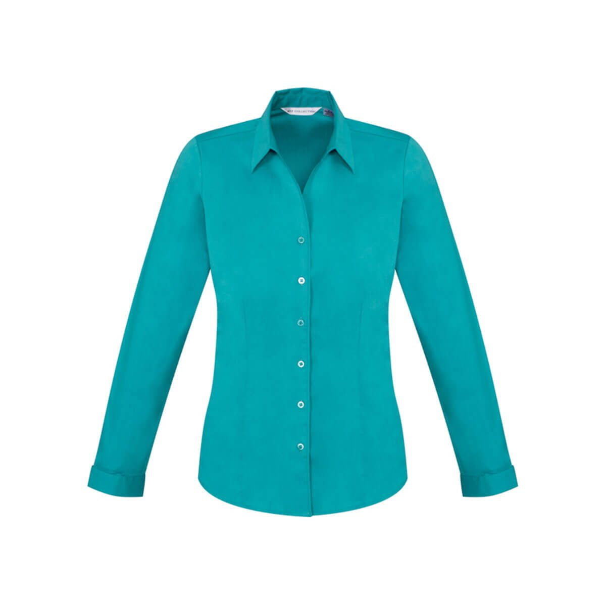 Ladies Monaco Long Sleeve Shirt-Teal